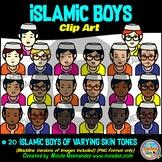 Islamic BOYS Heads & Shoulders Clip Art Set for Teachers