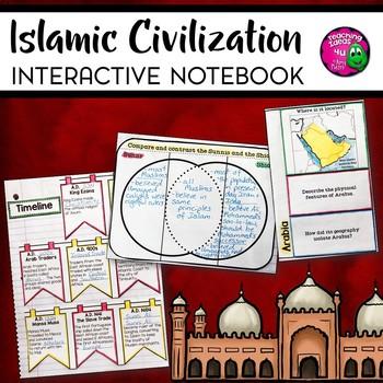 Islamic Civilization Interactive Notebook Unit 6th Grade INB