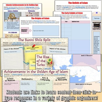 Islamic Civilizations Google Drive Interactive Notebook