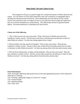 Islamic Daily Life and Culture Essay