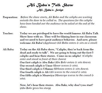 Islamic Empire Ali Baba & the Caliphs Talk Show