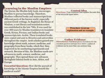Islamic Empires Reading Activities