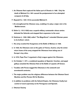 Islamic Empires in Asia, 1400-1800