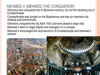 Islamic Gunpowder Empires Powerpoint Advanced- Ottomans Sa