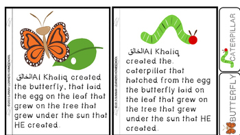 Islamic Muslim Emergent reader- Al khaliq created butterflies