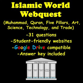 Islamic World Webquest (Muhammad, Quran, Five Pillars, Art, Science, and Trade)