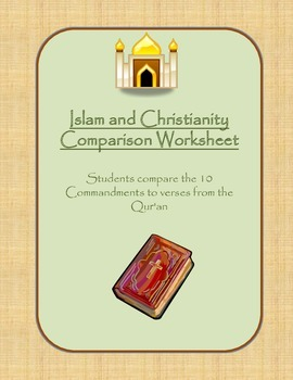 Islam and Christianity Comparison Worksheet
