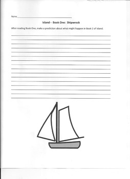 Island Book One:  Shipwreck Vocabulary and other activities