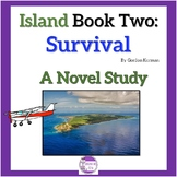 Island Book Two: Survival A Novel Study with quizzes and comprehension test