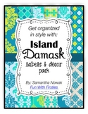 Island Damask: classroom decor and labels