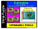 Island - Expandable & Editable Strip Puzzle with Multiple