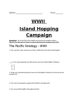 Island Hopping Campaign and Guadalcanal  Article Analysis With Key