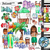 Island Kids - Aloha Hawaii - Color Clip Art Set