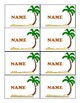 Island Name Tags - Island Theme