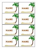Island Name Tags - Island Theme