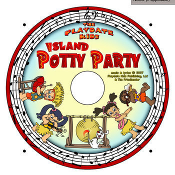 Island Potty Party  w/Musical CD - Hard Cover