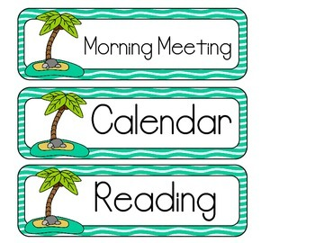 Island Schedule Cards