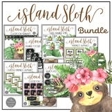 Island Sloth Classroom Decor BUNDLE with EDITABLE features