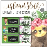 Island Sloth EDITABLE Job Chart