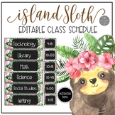 Island Sloth EDITABLE Schedule Cards