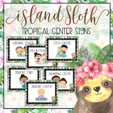 Island Sloth Learning Center Signs