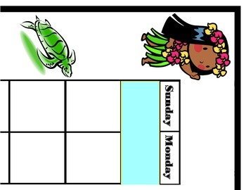 Island Calendar! Island Bulletin Board! Island Theme Calen