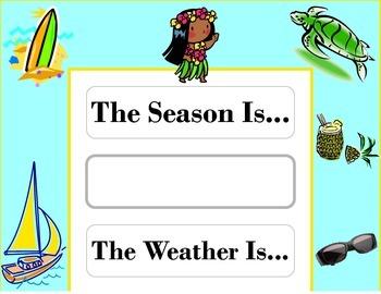 Island Weather Chart! Island Bulletin Board! Island Theme! Tiki Island Decor!