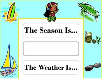 Island Weather Chart! Island Bulletin Board! Island Theme! Tiki Island Decor!