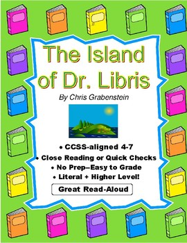 Island of Dr. Libris Grabenstein Close Reading, Quick Checks, Quiz, Paragraphs