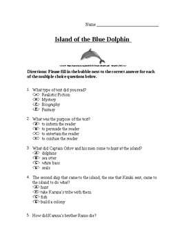 Island of the Blue Dolphin Unit Test