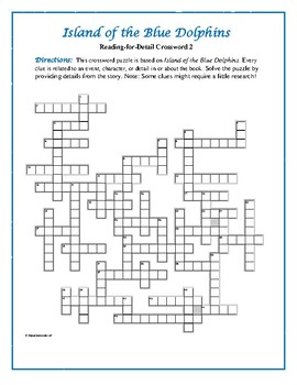 Island of the Blue Dolphins: 2 Reading-for-Detail Crosswords—Fun Reviews!