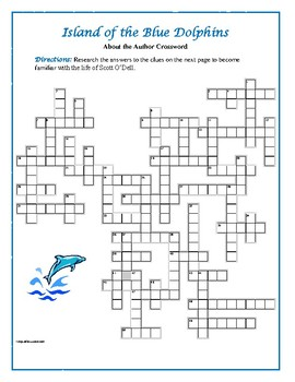 Island of the Blue Dolphins: About the Author Crossword—One of a Kind!