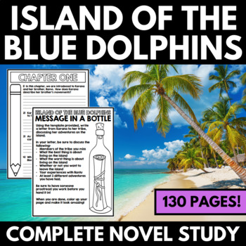 Island Of The Blue Dolphins Novel Study Unit Questions And Activities