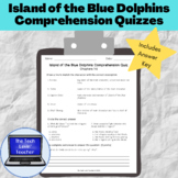 Island of the Blue Dolphins Comprehension Quizzes with Answer Key