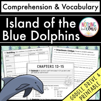 Island of the Blue Dolphins: Comprehension and Vocabulary by chapter