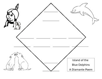 Island of the Blue Dolphins Diamante Poem