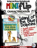 ISLAND OF THE BLUE DOLPHINS: INTERACTIVE NOTEBOOK CHARACTERIZATION MINI FLIP