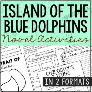 Island of the Blue Dolphins Interactive Notebook Novel Unit Study Activities