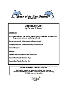 Island of the Blue Dolphins Literature Unit or Book Club S