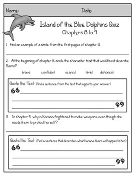 Island of the Blue Dolphins Novel Guide