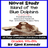 Island of the Blue Dolphins Novel Study &  Project Menu; Digital Option