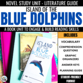 Island of the Blue Dolphins Novel Study - Comprehension & Vocabulary Activities