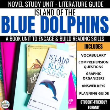 Island Of The Blue Dolphins Novel Study Comprehension Vocabulary Activities