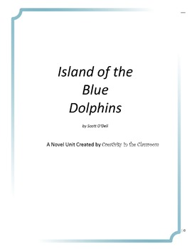 Island of the Blue Dolphins Novel Unit Plus Grammar