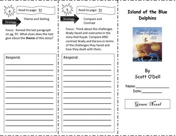 Island of the Blue Dolphins Reading Street Gr. 5 Tri-Fold
