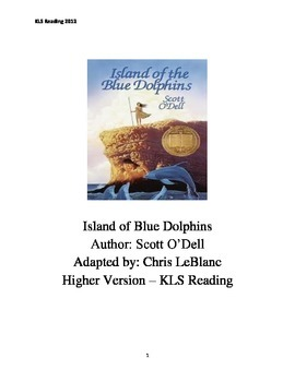 Island of the Blue Dolphins - Scott O Dell - Adapted Book