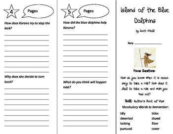 Island of the Blue Dolphins Trifold - Imagine It 4th Grade Unit 1 Week 1