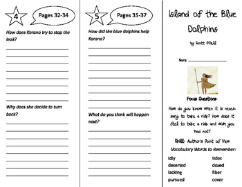 Island of the Blue Dolphins Trifold - Imagine It 4th Grade