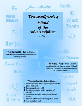 Island of the Blue Dolphins Trivia Game—264 questions! Fun for the Whole Class!
