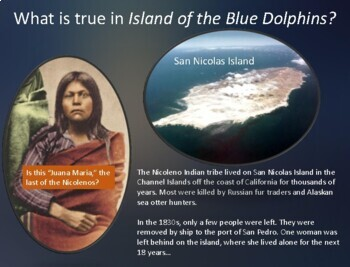 Island of the Blue Dolphins : Visual text support Vocabulary